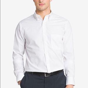 Van Heusen Regular Fit Stretch White Dress Shirt